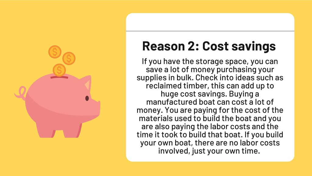 If you have the storage space, you can save a l...