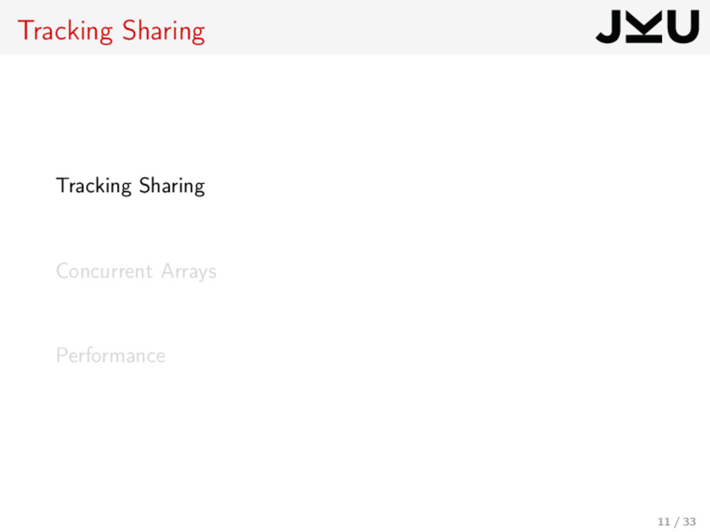 Tracking Sharing Tracking Sharing Concurrent Ar...