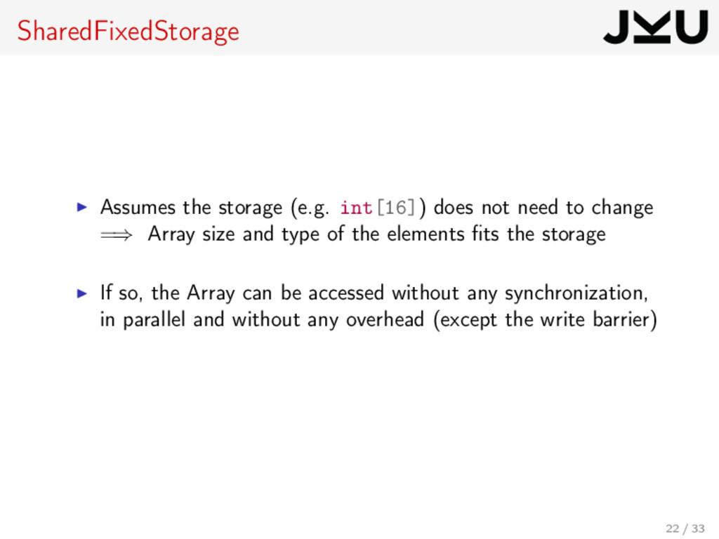 SharedFixedStorage Assumes the storage (e.g. in...