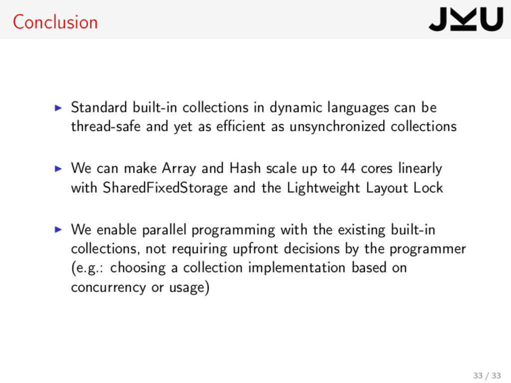 Conclusion Standard built-in collections in dyn...