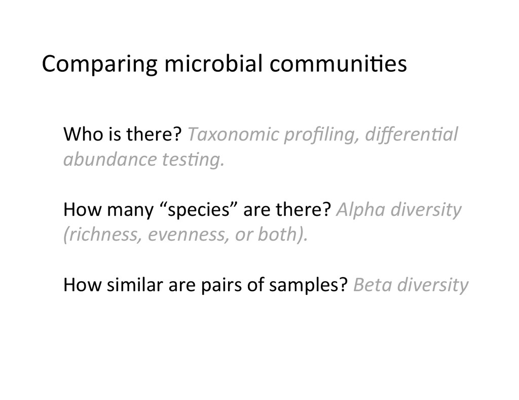 Comparing	