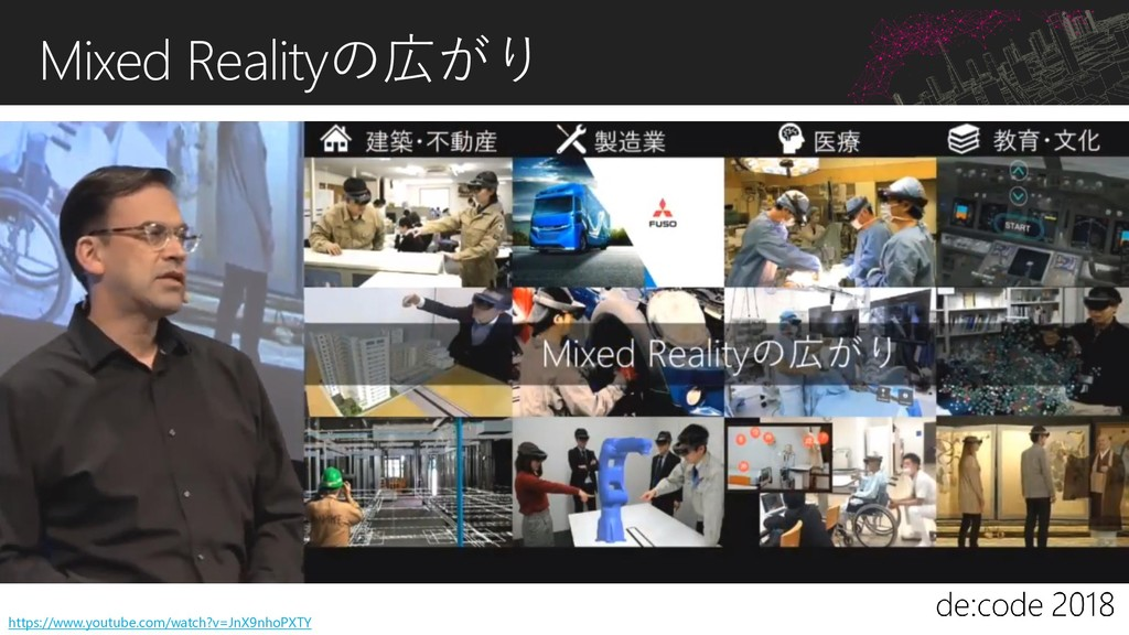 Mixed Realityの広がり https://www.youtube.com/watch...