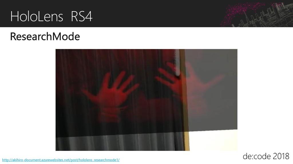 HoloLens RS4 http://akihiro-document.azurewebsi...
