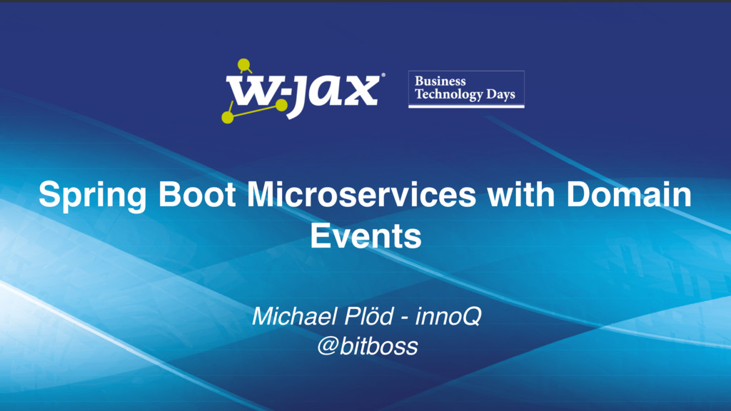 Spring Boot Microservices with Domain Events 