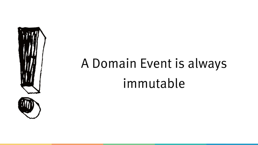 ! A Domain Event is always immutable