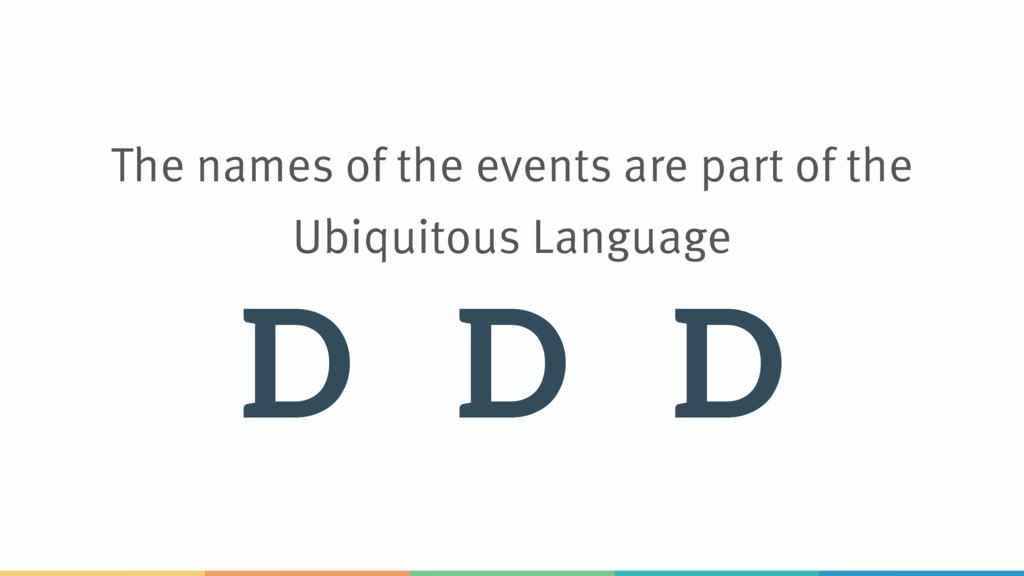 The names of the events are part of the