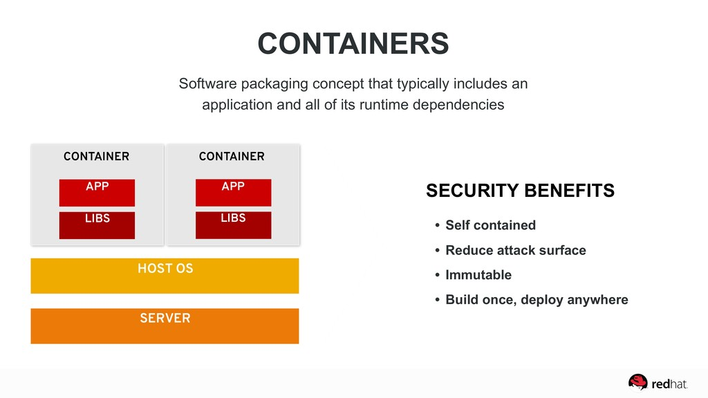 CONTAINERS Software packaging concept that typi...