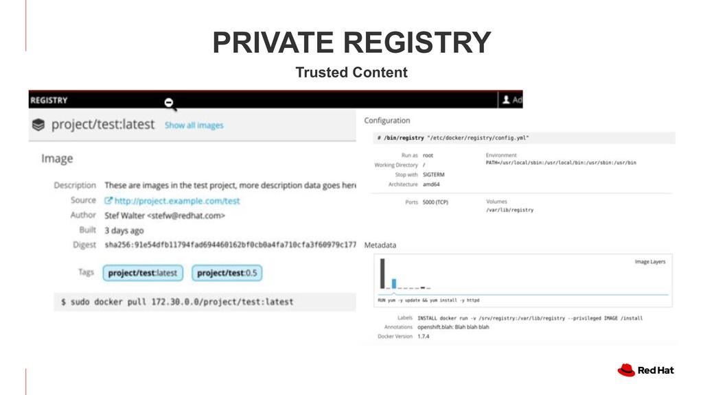 PRIVATE REGISTRY PRIVATE REGISTRY Trusted Conte...