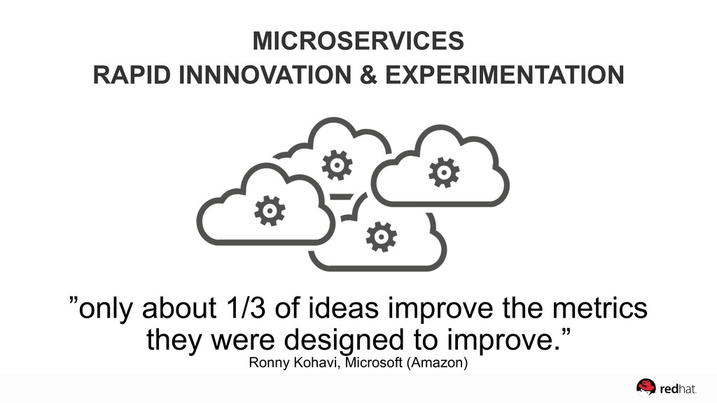 """""""only about 1/3 of ideas improve the metrics  ..."""