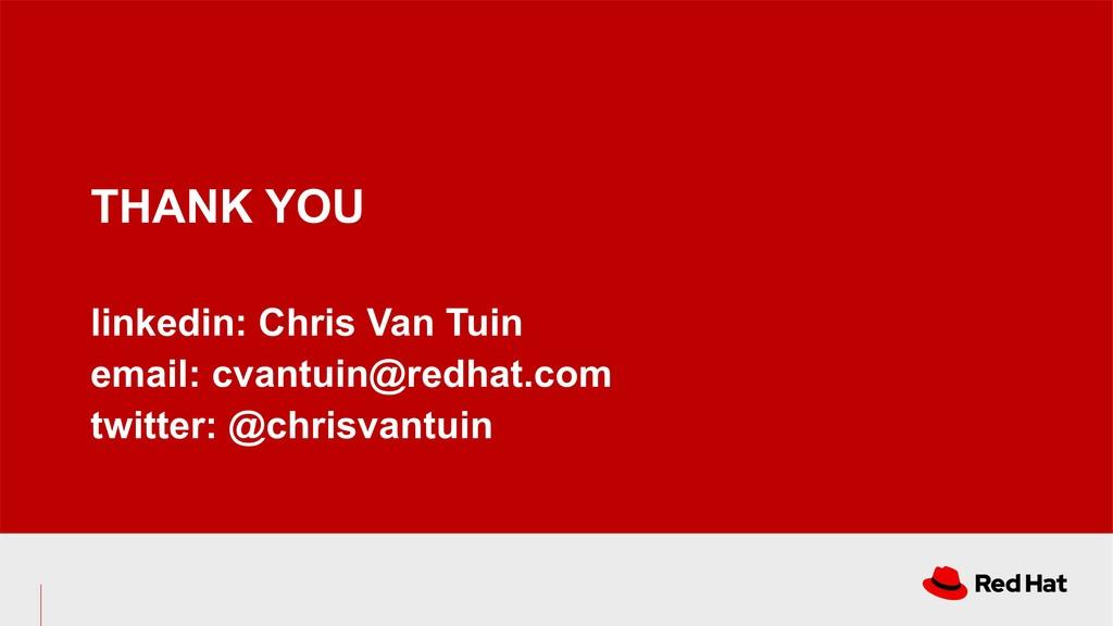 THANK YOU linkedin: Chris Van Tuin email: cvant...
