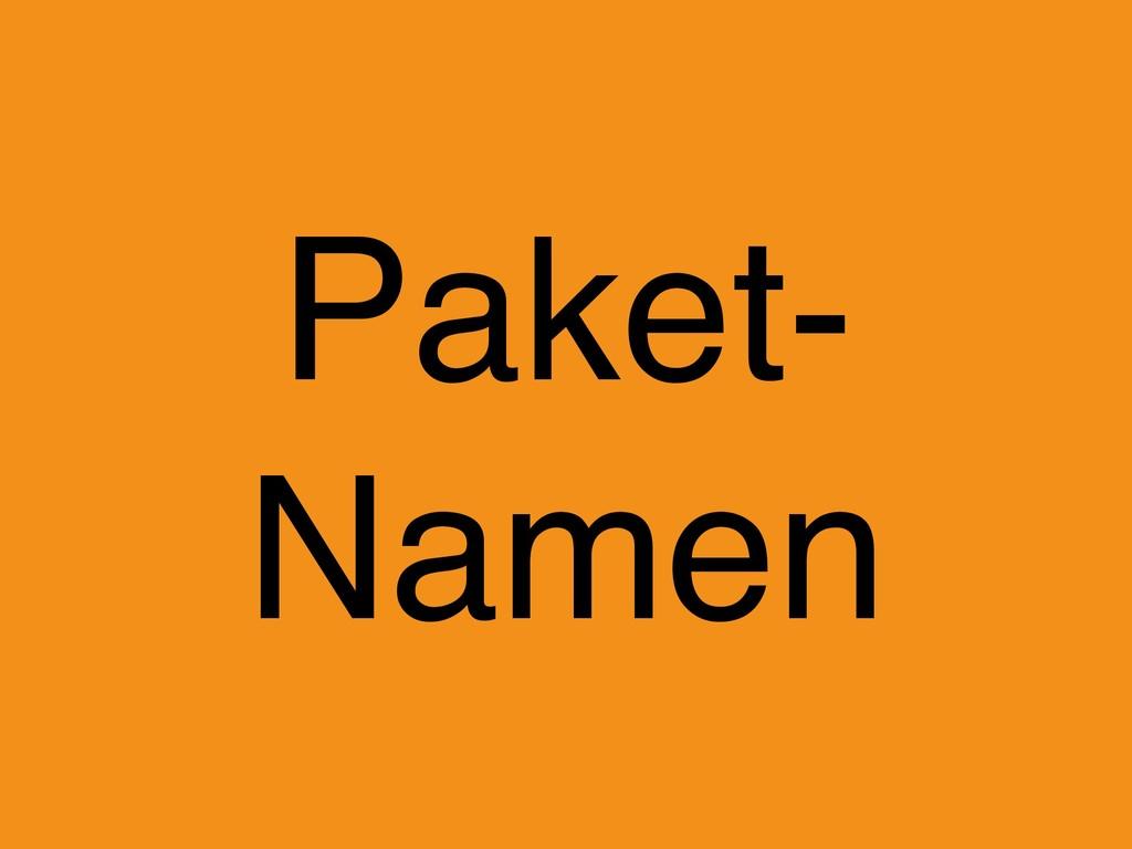 Paket- Namen