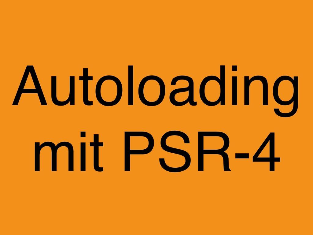 Autoloading mit PSR-4