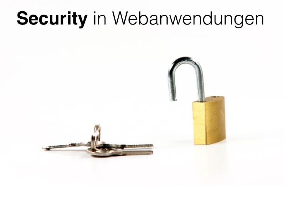 Security in Webanwendungen