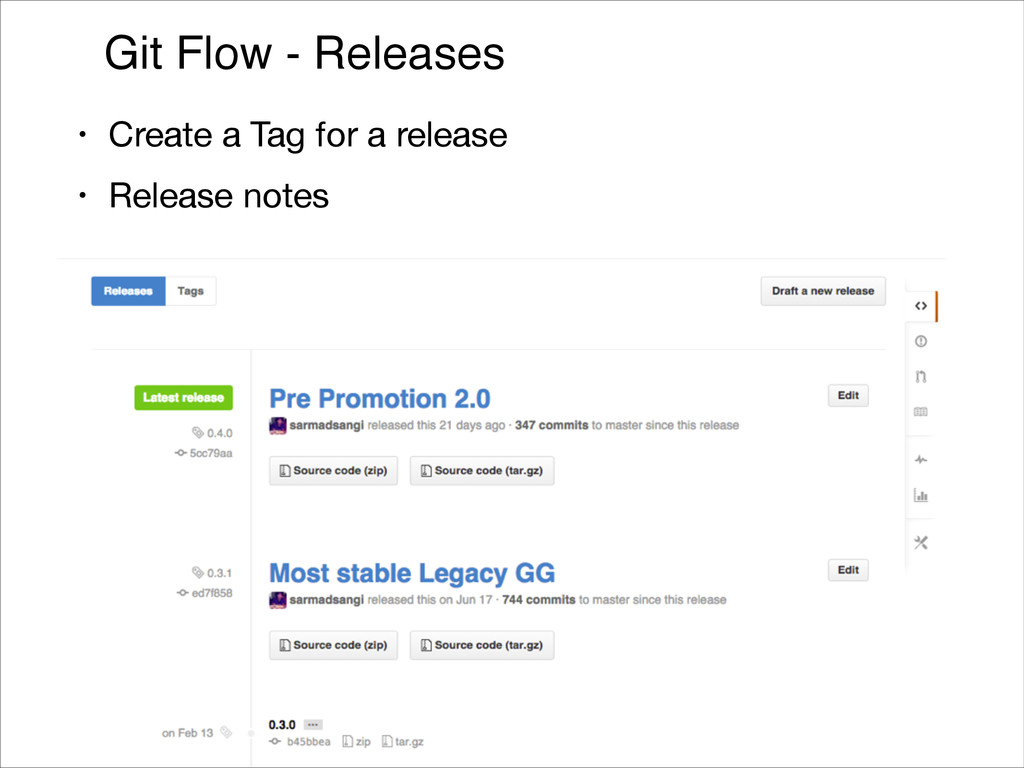 Git Flow - Releases • Create a Tag for a releas...