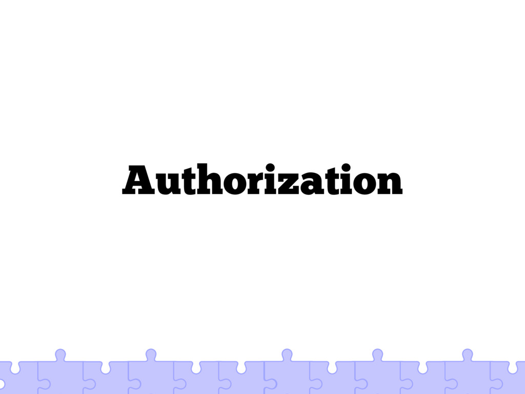 Authorization