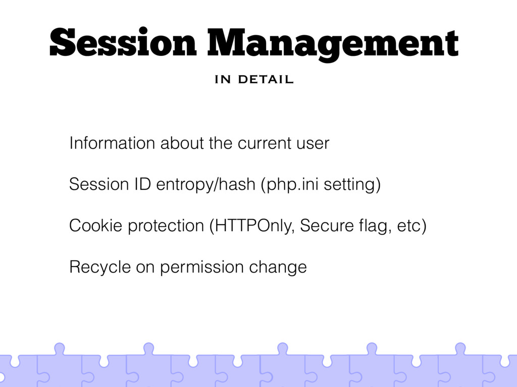 Session Management in detail Information about ...