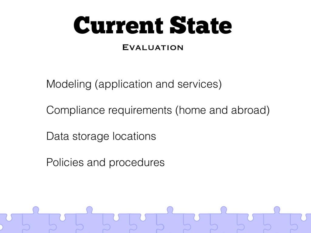 Current State Evaluation Modeling (application ...