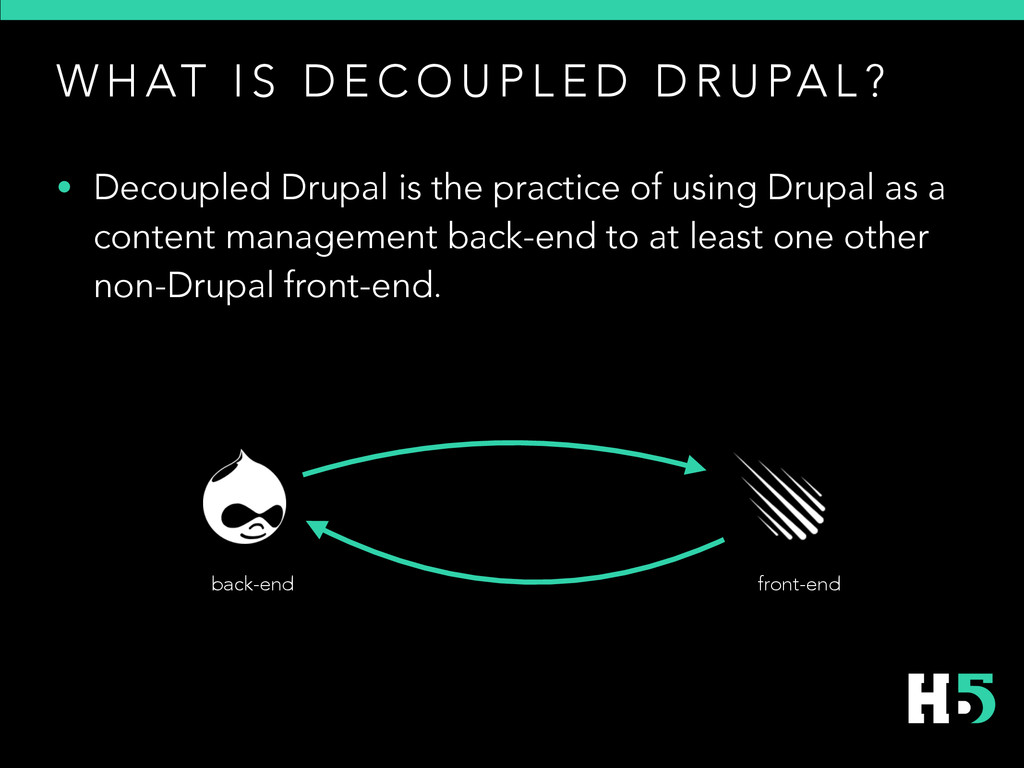 • Decoupled Drupal is the practice of using Dru...