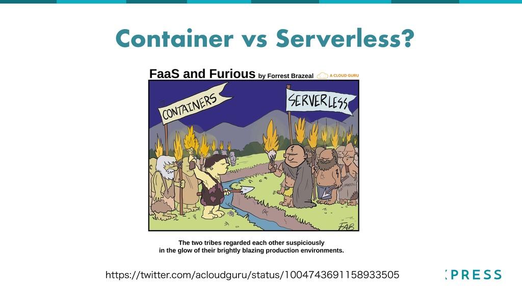 Container vs Serverless? IUUQTUXJUUFSDPNBD...