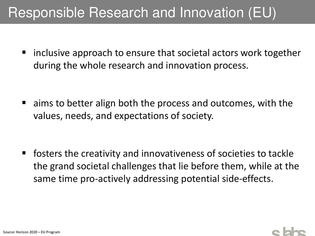 Responsible Research and Innovation (EU)  incl...