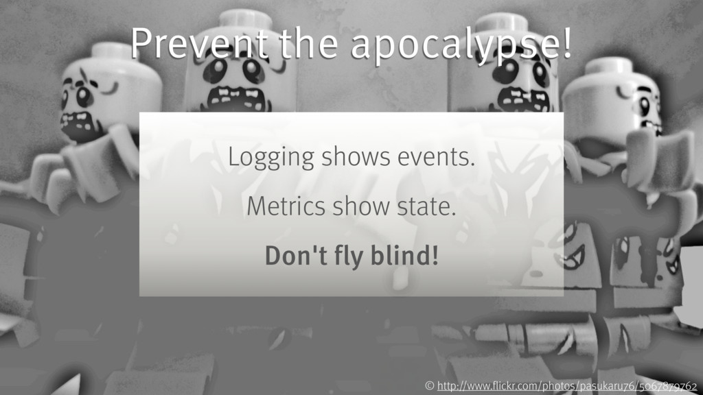 Prevent the apocalypse! Logging shows events. M...