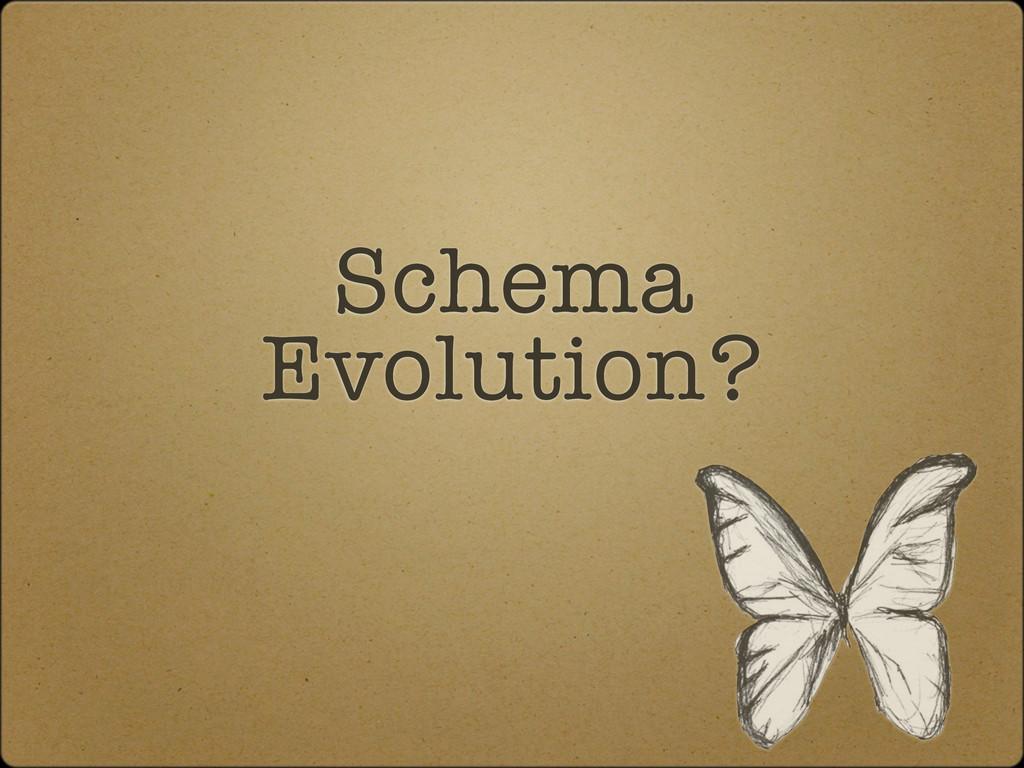 Schema Evolution?