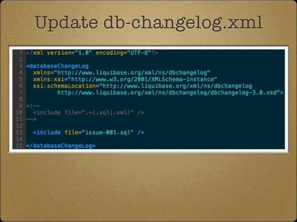 Update db-changelog.xml