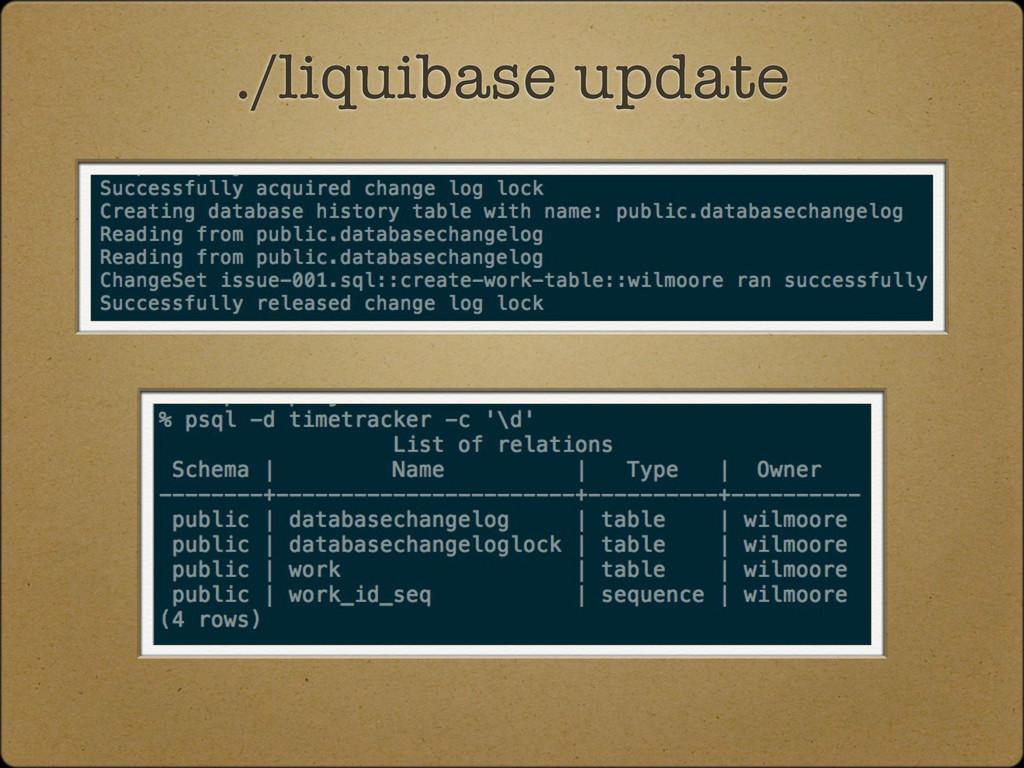 ./liquibase update
