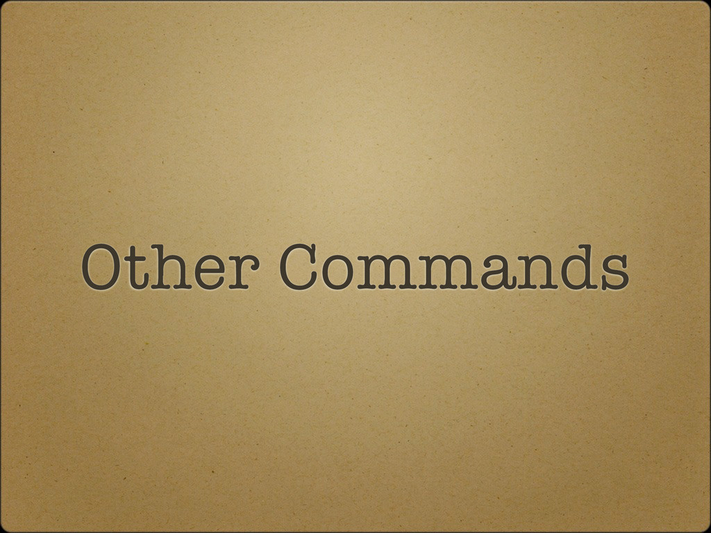 Other Commands