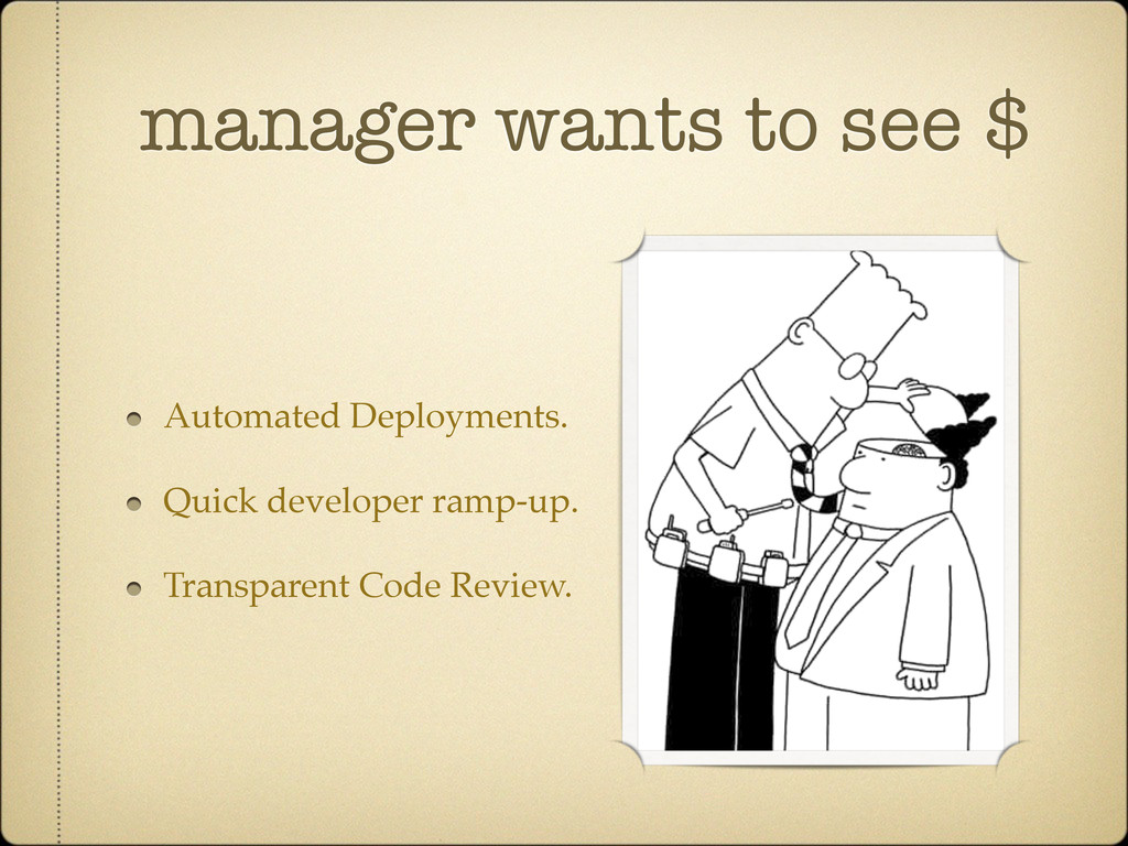 manager wants to see $ Automated Deployments. Q...