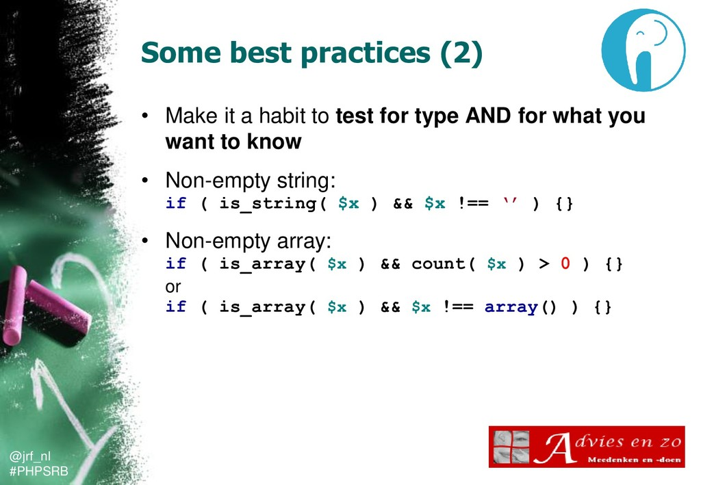 @jrf_nl #PHPSRB Some best practices (2) • Make ...