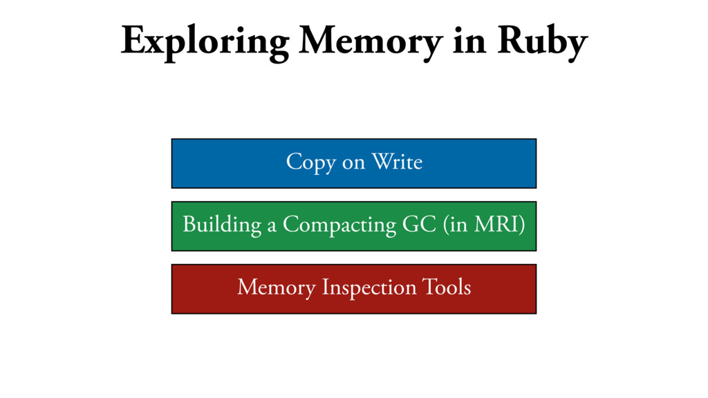 Exploring Memory in Ruby Copy on Write Building...