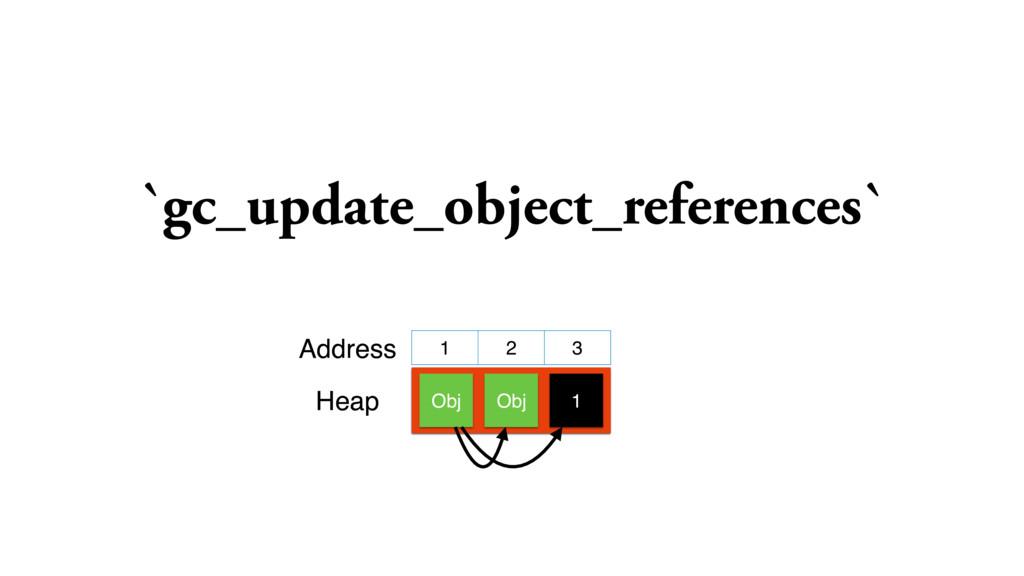 `gc_update_object_references` 1 2 3 Obj Address...