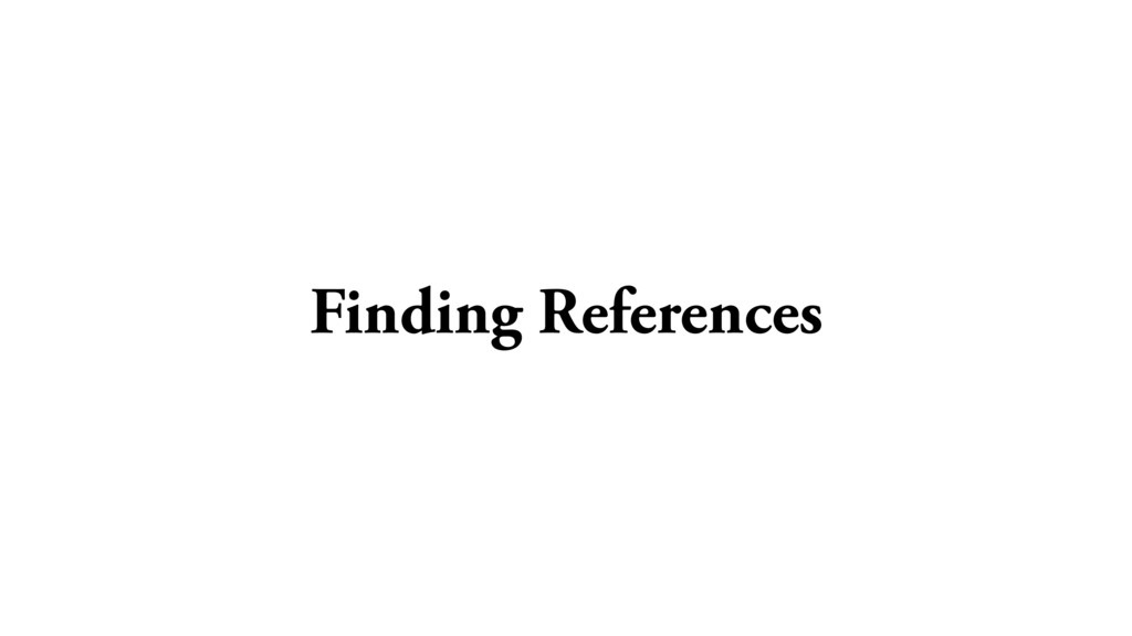 Finding References