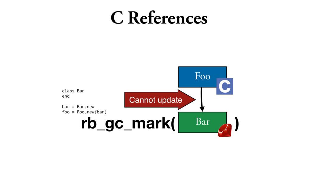 C References class Bar end bar = Bar.new foo = ...