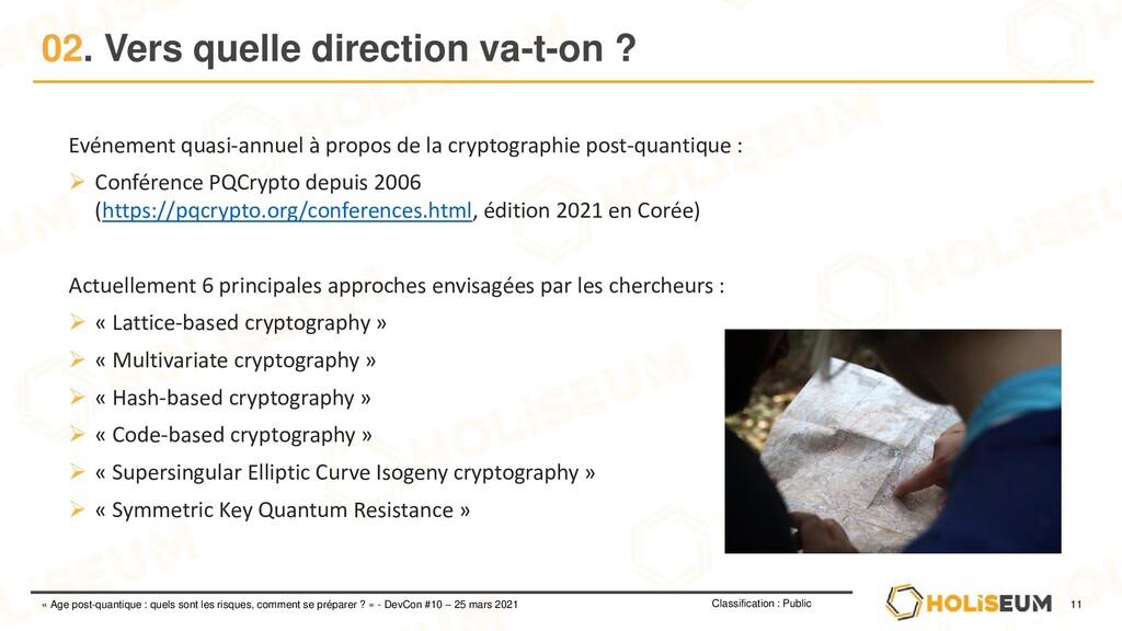 11 Classification : Public « Age post-quantique...