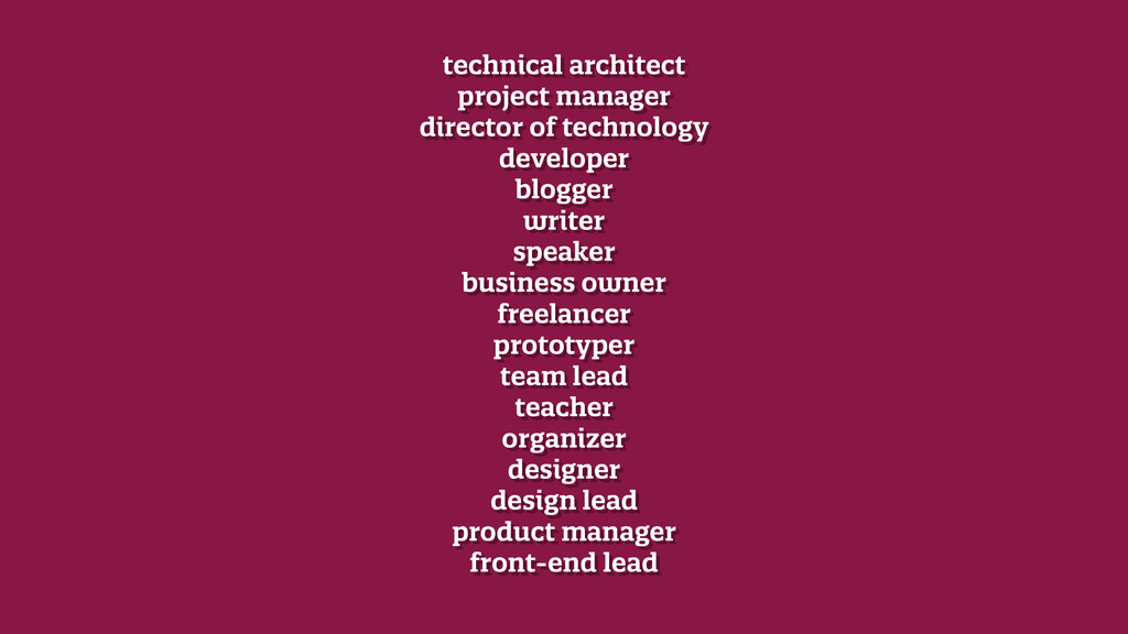 technical architect project manager director ...