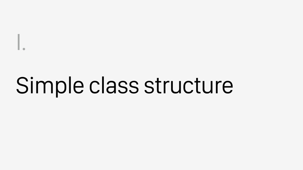 Simple class structure I.