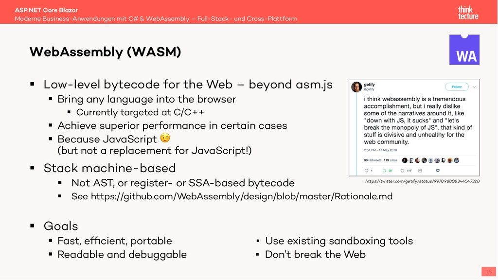 19 § Low-level bytecode for the Web – beyond as...