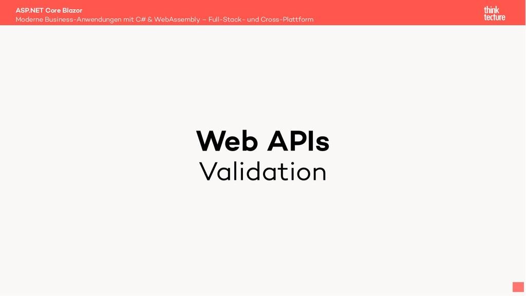 Web APIs Validation Moderne Business-Anwendunge...