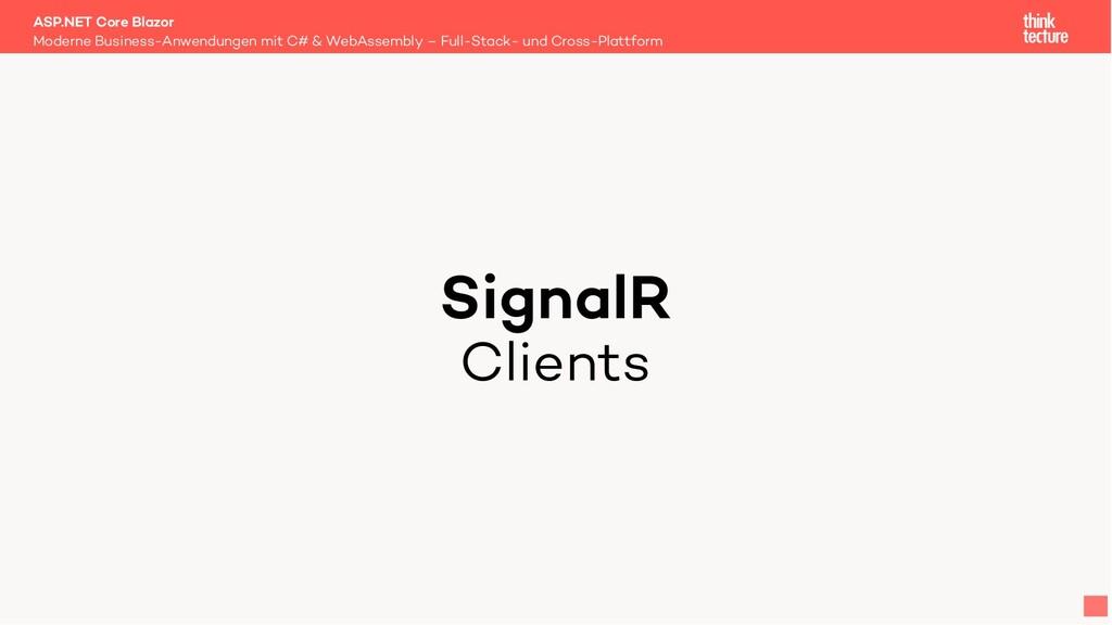 SignalR Clients Moderne Business-Anwendungen mi...