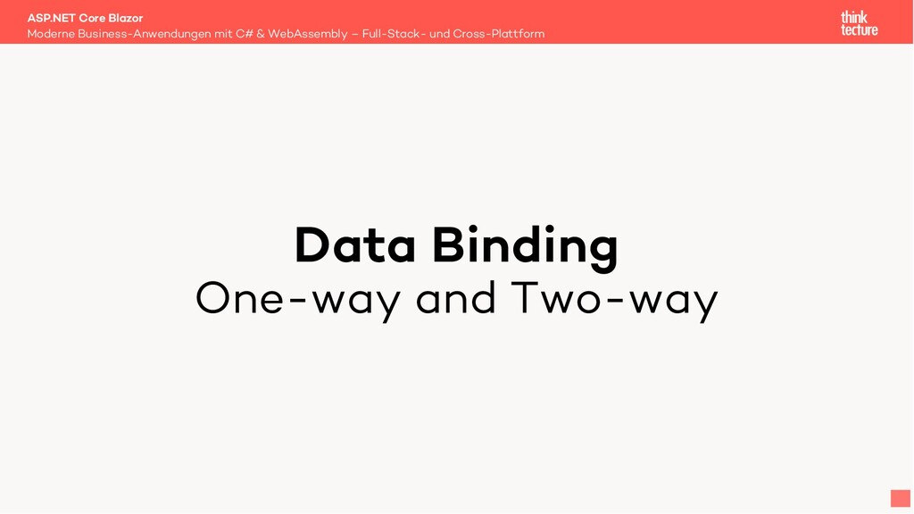 Data Binding One-way and Two-way Moderne Busine...