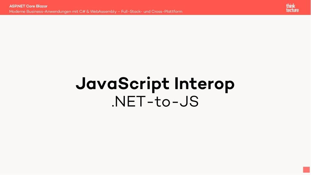 JavaScript Interop .NET-to-JS Moderne Business-...