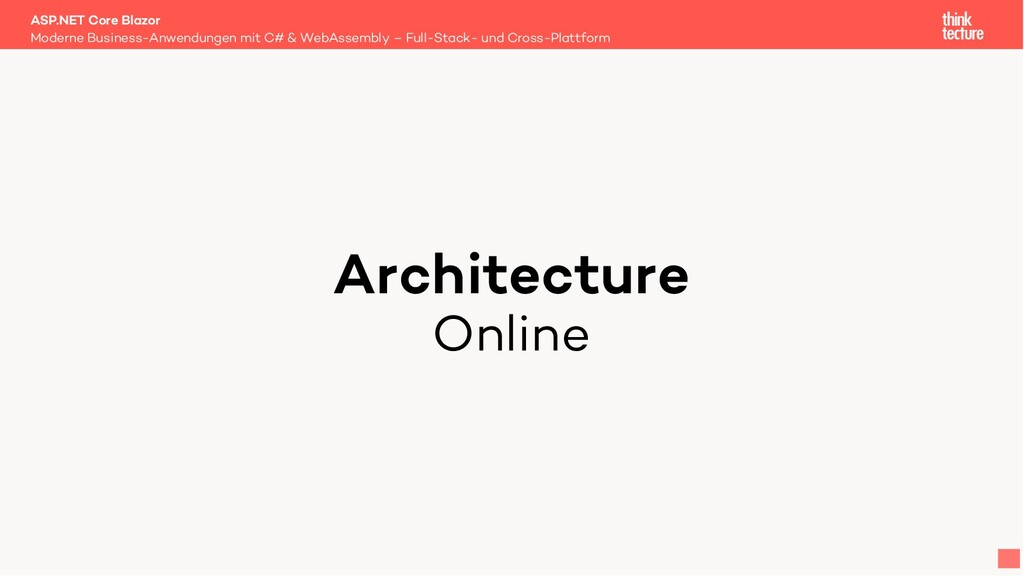 Architecture Online Moderne Business-Anwendunge...
