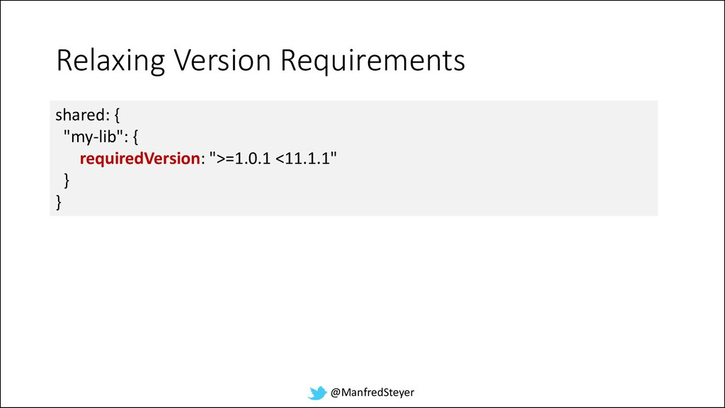 @ManfredSteyer Relaxing Version Requirements sh...