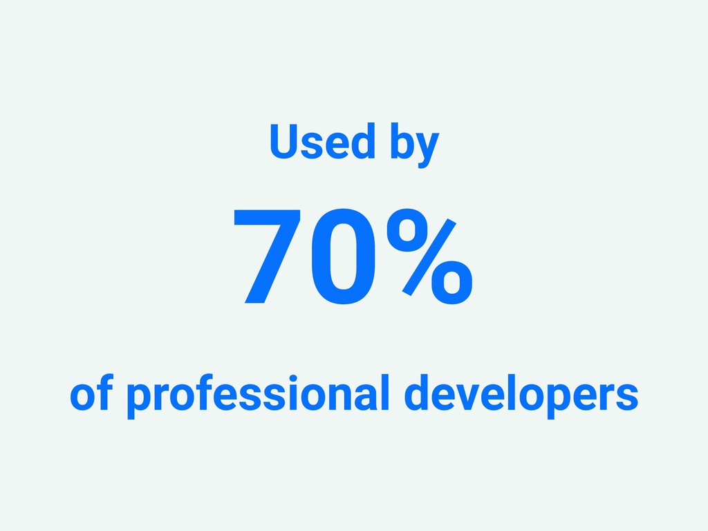 Used by 70% of professional developers