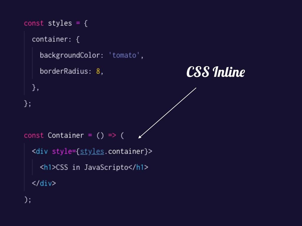 CSS Inline