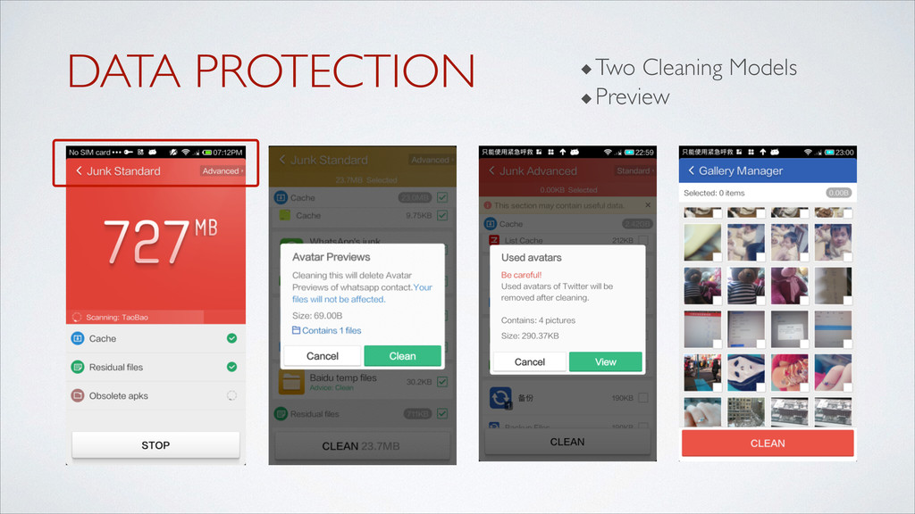 DATA PROTECTION ! ◆Two Cleaning Models	 