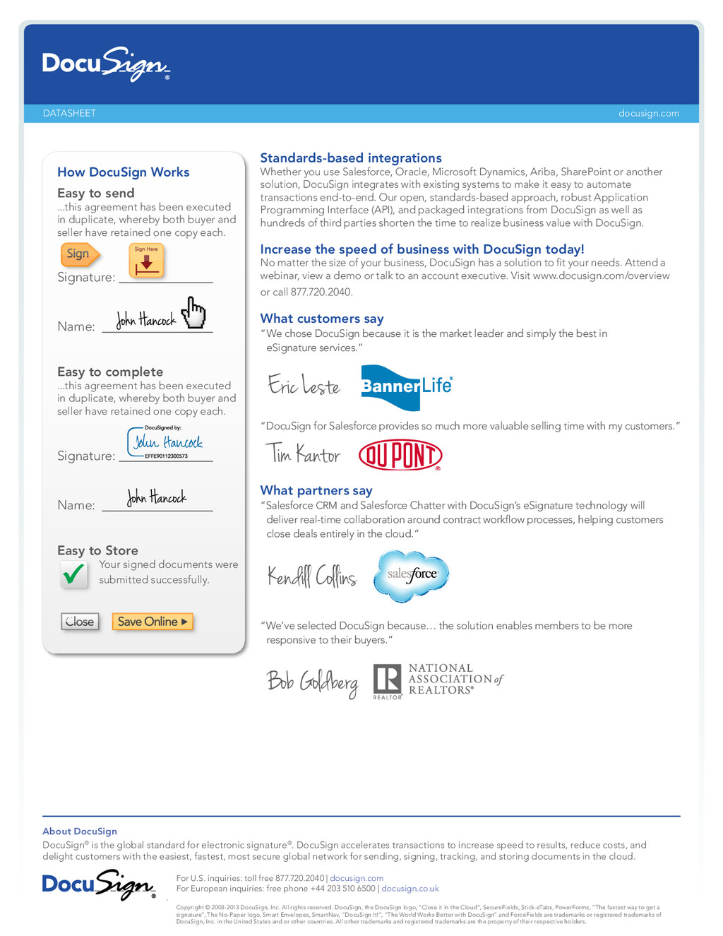 docusign.com About DocuSign DocuSign® is the gl...