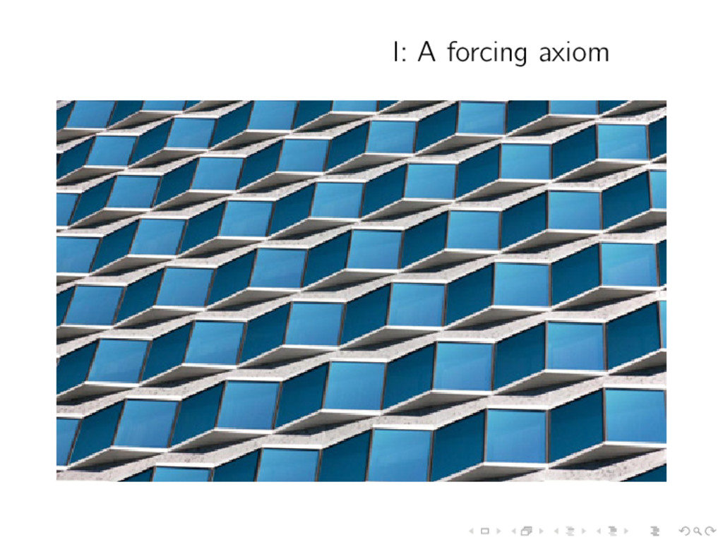 I: A forcing axiom
